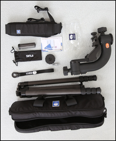 SIRUI N2405 CF TRIPOD  PACKAGE